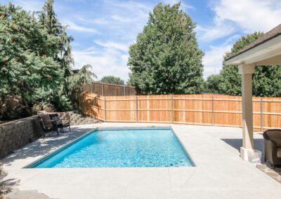 Cedar Fencing around pool